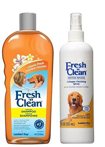 14 Oz Cologne - Fresh 'N Clean Classic Shampoo and Cologne Bundle: (1) Fresh 'N Clean Classic Fresh Scented Shampoo, and (1) Fresh 'N Clean Classic Cologne Finishing Spray, 12-18 Oz. Ea.