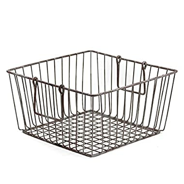 Skalny Square Wire Storage Container, 11.75 x 6.25