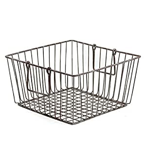 """Skalny Square Wire Storage Container, 11.75 x 6.25"""""""