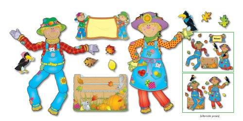 Carson Dellosa Move and Pose Mr. and Mrs. Scarecrow Bulletin Board Set (110027) (Board Bulletin Scarecrow Set)