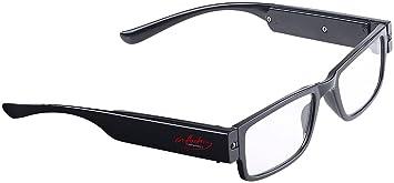07b6e75e991c infactory Leuchtbrille  Modische Brille mit LED-Leselicht und Akku ...