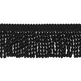 10 Yard Value Pack of Black 2.5 Inch Bullion Fringe Trim, Style# EF25 Color: K9 (30 Ft / 9 Meters)