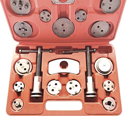 (Alelife New Brake Caliper Piston Disc Rewind Back Tool Set Pads Pro Universal-21PCS)