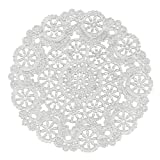 Royal Medallion Lace Round Paper Doilies, 4-Inch, Pack of 40 (B23001) by Royal Lace