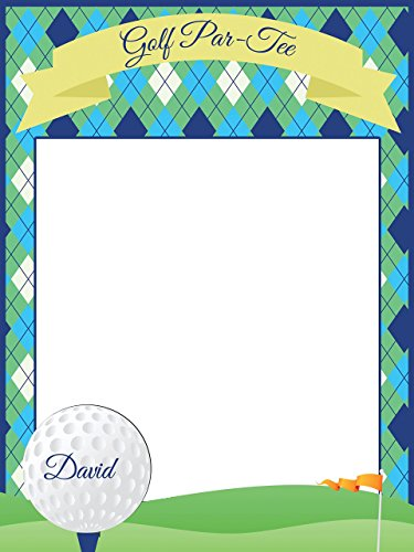 Personalized golf party Photo Booth Prop - sizes 36x24, 48x36; Personalized Golf party decorations, Golf Party Props, Retirement Party Home Decorations, Handmade Party Supply Photo Booth Frame