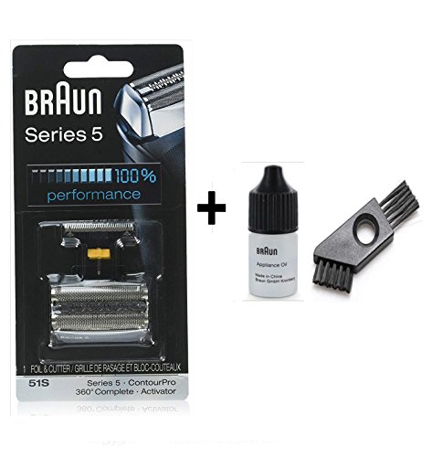 Braun Cutter Combi Pack Series 5 with cleaning brush and oil 7ml (51S) -