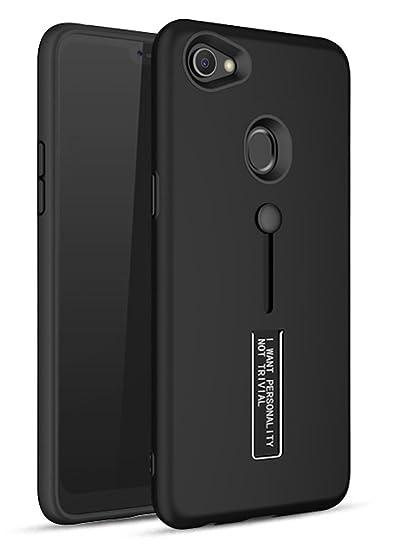 new style 995b2 39e79 Bounceback ® Oppo F7 Cover Case 3 in1 360º Anti Slip Super Slim Back Cover  for Oppo F7 (Matte Black)