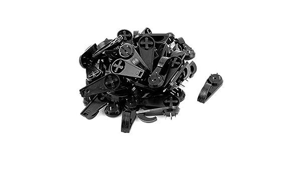 50 piezas Negro plástico duro cuadro de la pared de uñas Marco suspensión de gancho - - Amazon.com