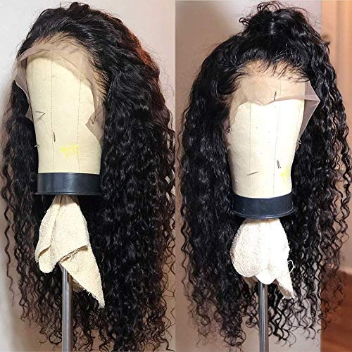 Fureya Long Loose Curly Glueless Lace Front Wigs for Women Heat Resistant Fiber Synthetic Hair with Baby Hair 180 Density 20 inch