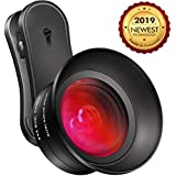 Cell Phone Camera Lens Kit,GLHMOGM 15X Macro and 0.45X Wide Angle Phone Lens Kit with LED Light and Travel Case,iPhone Camera Lens for iPhone X/XS/8/7/6 Plus, Samsung, Pixel and More