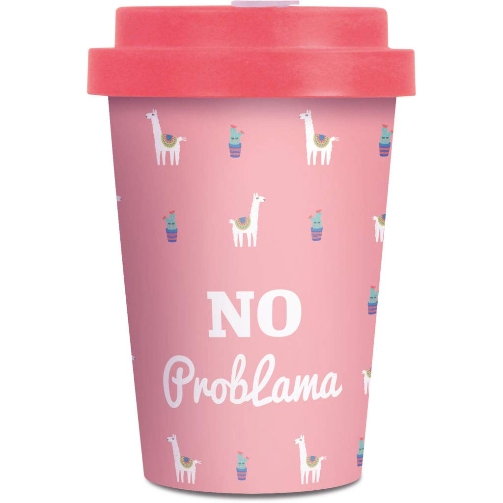 Thermo Rex Bamboo Cup 400ml Pinker Bamboo Becher Lama Design