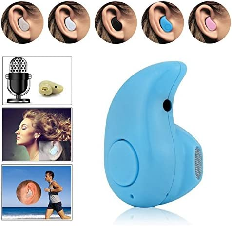 FlatFin Sports Invisible in Ear Smallest Mini Bluetooth 4.0 Headset with Hands-Free Calling Stereo for iPhone 8 Samsung Note 8 Galaxy Beige