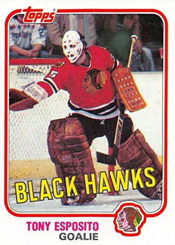 1981-82 Topps Hockey Card #11 Tony Esposito Chicago Blackhawks Officially Licensed Trading Card