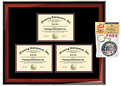 Amazon.com : Triple Document Holder 3 Certificate Frame Three ...