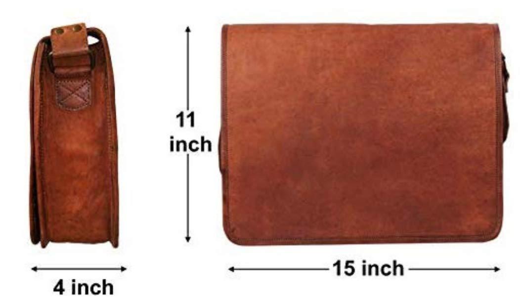 Treasure box 15 Vintage Crossbody Genuine Leather Laptop Messenger Bag