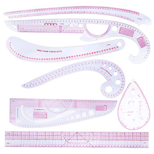 CHBC 7pcs/Set Sewing Tailor French Curve Rulers Drawing Line Measure Clothing Patchwork DIY -