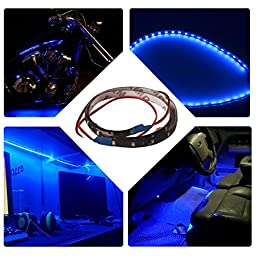 AUTOSAVER88 6Pcs,60cm DIY LED Strip Flexible Waterproof String Lights, Fairy Lights Blue Christmas Lights