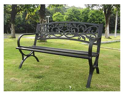 - IMPERIAL POWER Scroll Back Steel Bench