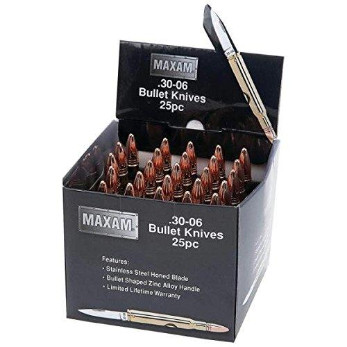 Maxam® 25pc Gold-Tone Bullet Knives in Countertop Display