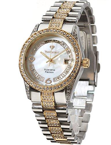 Yves Camani Women's Quartz Watch Tiberius Bicolor/White YC1043-A