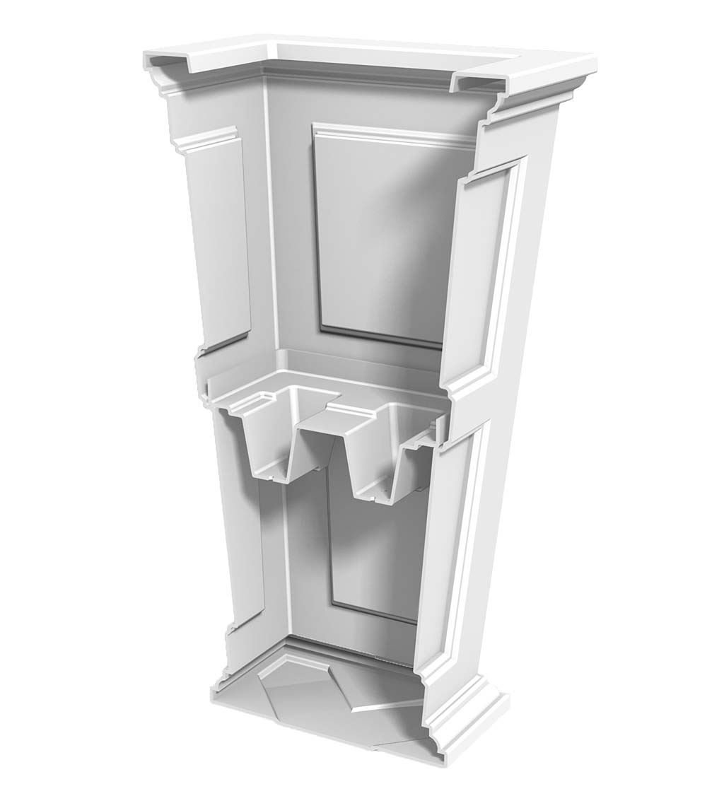 Plow & Hearth 52234-WH Tall Planter, 15.5'' x 32'', White