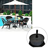 46 cm weight bag for canopy tent awning outdoor sunshade holder detachable umbrella base stand advertising display shed fixing sandbags wind-proof wheel round patio beach cantilever bags 46cm in diame