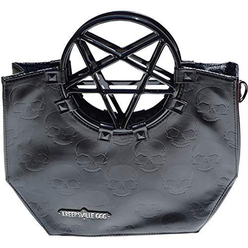 Kreepsville 666 Pentagram Handle Purse Bag Black