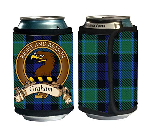 Graham of Menteith Scottish Clan Tartan Beer Can Cozies, Can Cooler