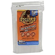 Gorilla 3023003 Hot Glue Sticks 4 In. Mini Size, 30Count