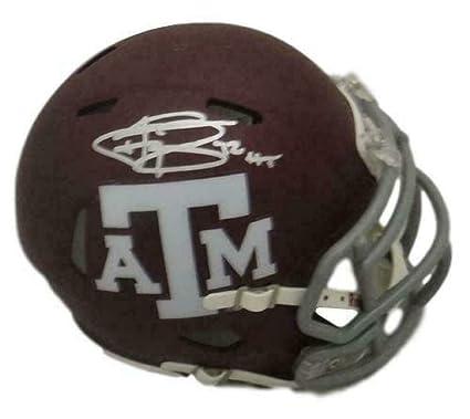 e1610e5eac0 Johnny Manziel Autographed Signed Texas A M Aggies Red Mini Helmet HT 11366  - JSA Certified