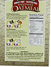 Glutenfreeda\'s Instant Oatmeal,  Maple Raisin, 8-Count Packets (Pack of 8) (Packaging may vary)