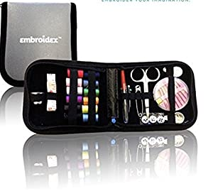 Embroidex Sewing Kit for Home, Travel & Emergencies - Filled with Quality Notions Scissor & Thread - Great Gift by Emroidex