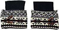 Muk Luks Women's 1-Pair Lodge Boot Toppers, Dark Sapphire, OSFM