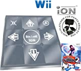 Wii Dance Dance Revolution DDR iON Metal Dance Pad + Dance Dance Revolution DDR Hottest Party 2 (Wii