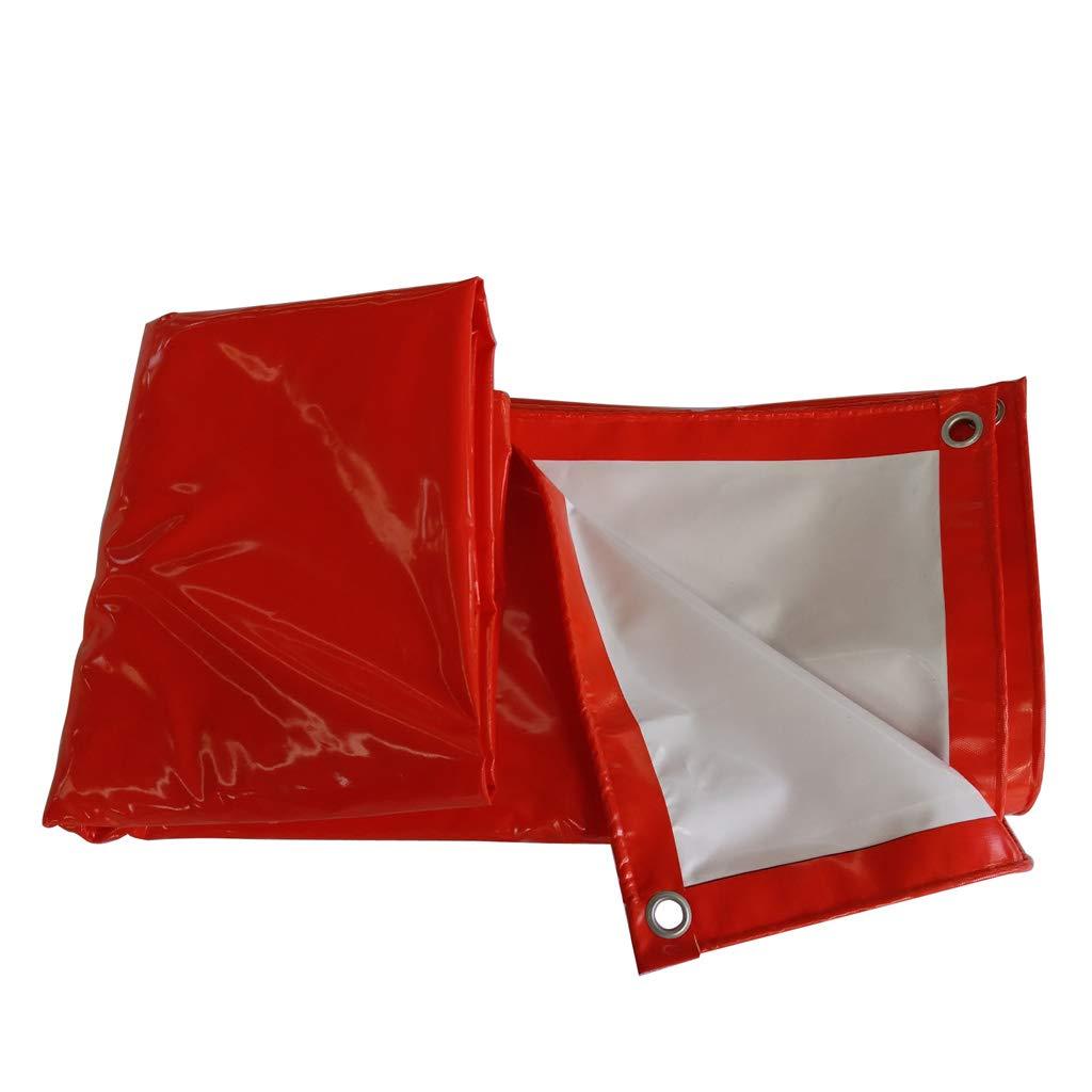 Hyzb Rote und weiße regendichte Plane Wasserdichte Sonnencreme Winddicht Plane Abdeckung Tuch (größe   5x6m)