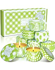 LA BELLEFÉE Citronella Candles,Natural Soy Wax Scented Candle Set for Wedding, Picnic, Outdoor/Indoor