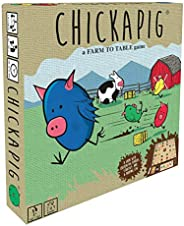 Buffalo Games Chickapig Board Game - A Strategic Board Game Where Chicken-Pig Hybrids Attempt to Reach Their Goal While Dodg