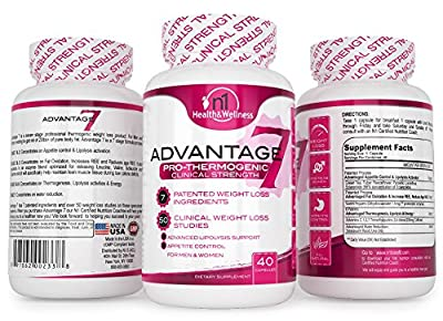 Advantage7 Clinical Weight Loss 50 Weight Loss Studies over 7 Weight Loss Patents, FDA Gras Approved Ingredients, No Jitter Smooth Energy
