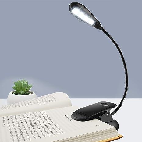 BK Portable Book LED Night Light Travel Reading Lamp Clip On For Kindle E-reader