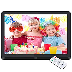 Digital Photo Frame, 10 Inch Digital Picture Frame 1920 * 1080(16:9) Widescreen IPS Display,Auto-Rotate,Remote Control,Media MP3/ HD Video Player/Calendar/Alarm Clock,USB and SD Card Slots,Best Gift