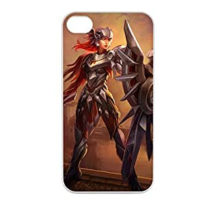 Leona-004 League of Legends LoL case cover for Apple iPhone 4 / 4S - Plastic White
