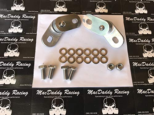 (Yamaha Banshee Billet Aluminum Pipe/Exhaust Hangers Mounts With Rubber Cushions)