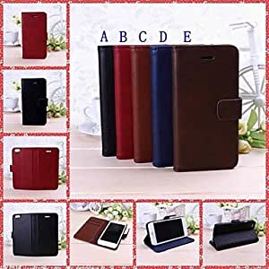 ZL Solid Color Full Body Leather Case with Stand for iPhone 6 , A