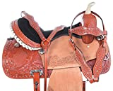 Acerugs All Purpose Horse Saddle TACK Package Headstall REINS Breast Collar Western Show Barrel Trail Riding