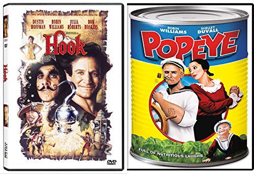 Robin Williams in Disney Classic Children's Fantasy Films: Popeye + Hook (DVD Imagination Movie Bundle)