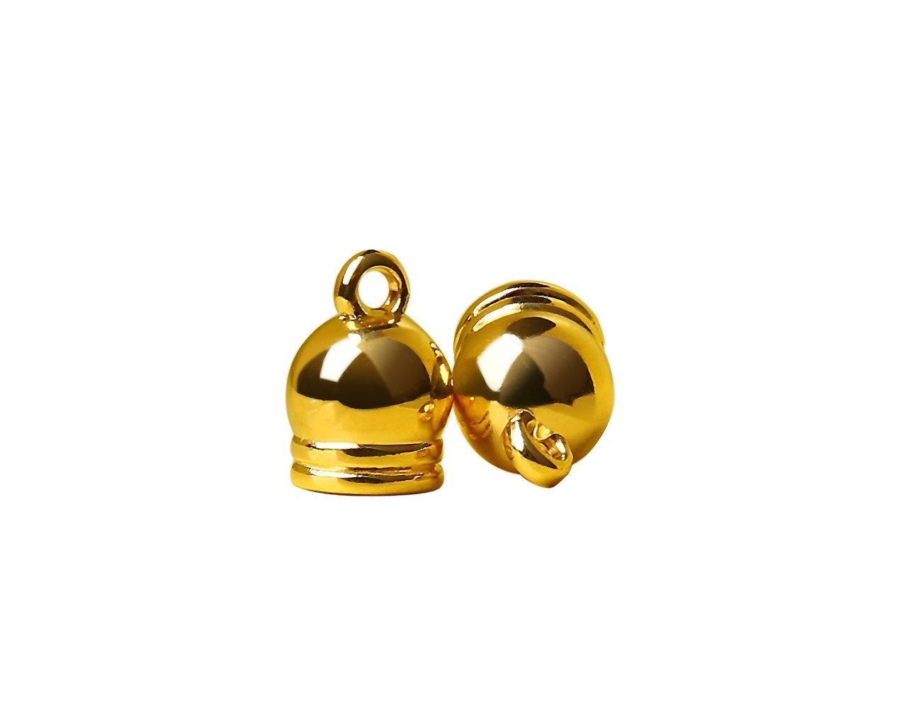 Tassels Tops 100 Pcs Tassels Accessories Charms Pendant Tassels Caps Jewelry Findings #1546 Gold
