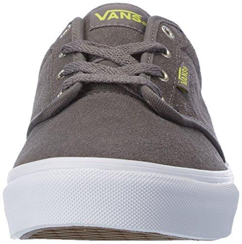 VansY ATWOOD - Zapatillas Niños^Niñas gris - Grau ((Quilt) pewter/marshmallow)