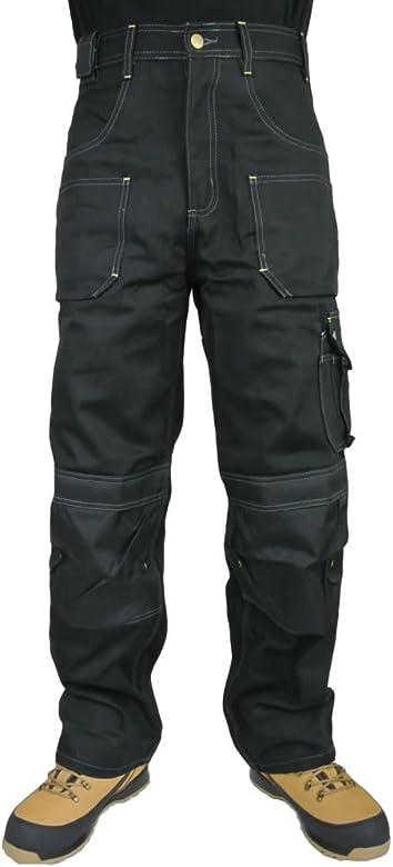 Heavy Duty Heavyweight Quality Cargo Combat Mens Work Trousers Knee Pad Pockets