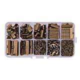 PH PandaHall About 500Pcs Jewelry Finding Sets Mixed Sizes Ribbon End Drop Ends Jump Ring Chains Class Learning Lots Antique Bronze