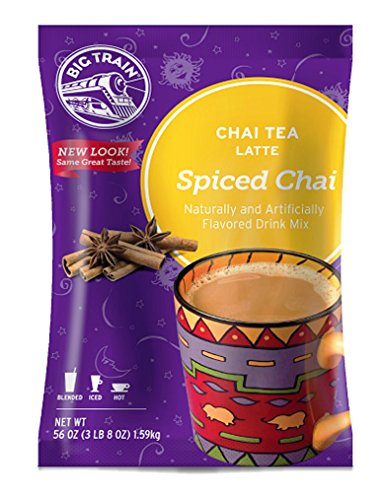 Big Train Spiced Chai Tea Latte 3.5 Lb. (1 Count) Powdered Instant Chai Tea Latte Mix, Spiced Black Tea with Milk, For Home, Café, Coffee Shop, Restaurant Use Chai Latte Mix